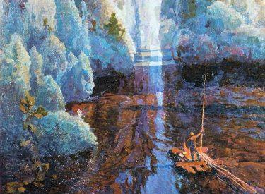 """За синей птицей"" 1977 г., х.м."